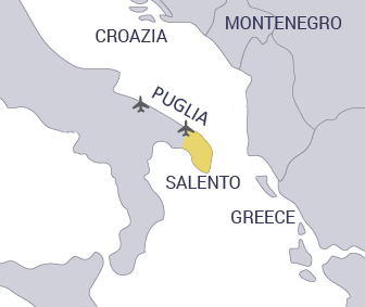 cartina del Salento