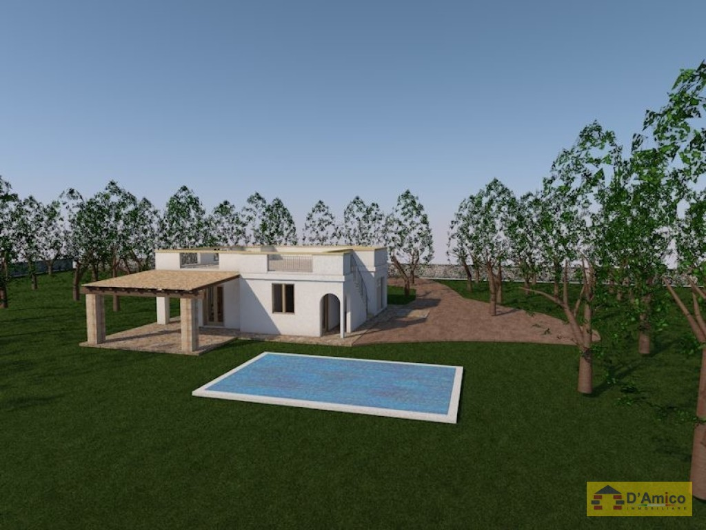 Terreno ulivetato mq 6000 pi progetto villa con piscina - Progetto villa con piscina ...