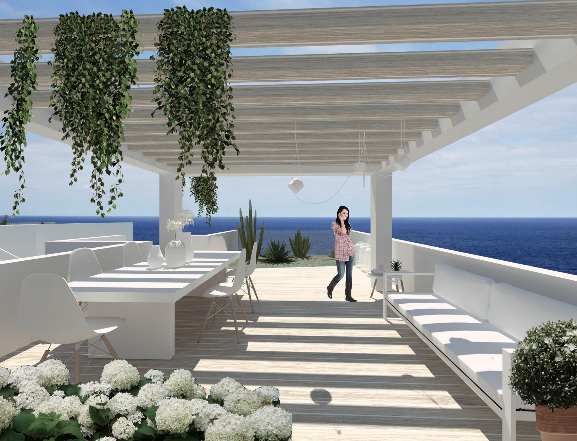 Vendesi due ville di pregio fronte mare con piscina a piano primo castrignano del capo - Residence puglia mare con piscina ...