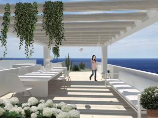 Ville di nuovissima costruzione con vista mare mozzafiato! Disposte su due piani, con solarium, piscina e giardino di pertinenza.