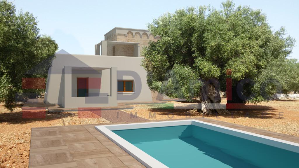 Affare salve pescoluse terreno con progetto villa masseria con piscina salve - Progetto villa con piscina ...