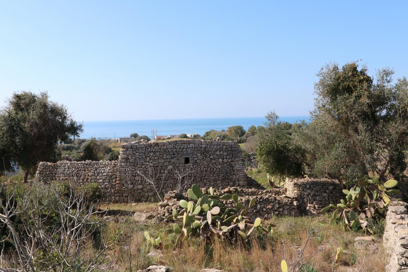 Fabbricato Rurale mq 78, da ristrutturare, vista mare - Castrignano del Capo