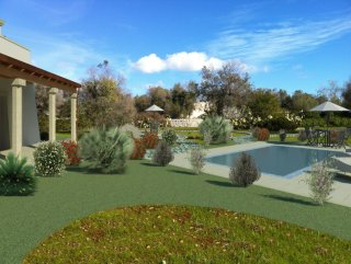 Villa Masseria, to be built, sea view, with swimming pool and mini golf