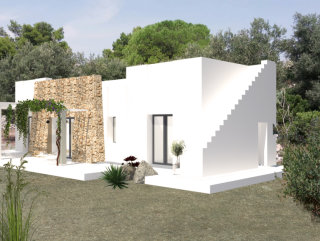 Progetto approvato di Villa, vista mare, più Fabbricato Rurale uso Dependance
