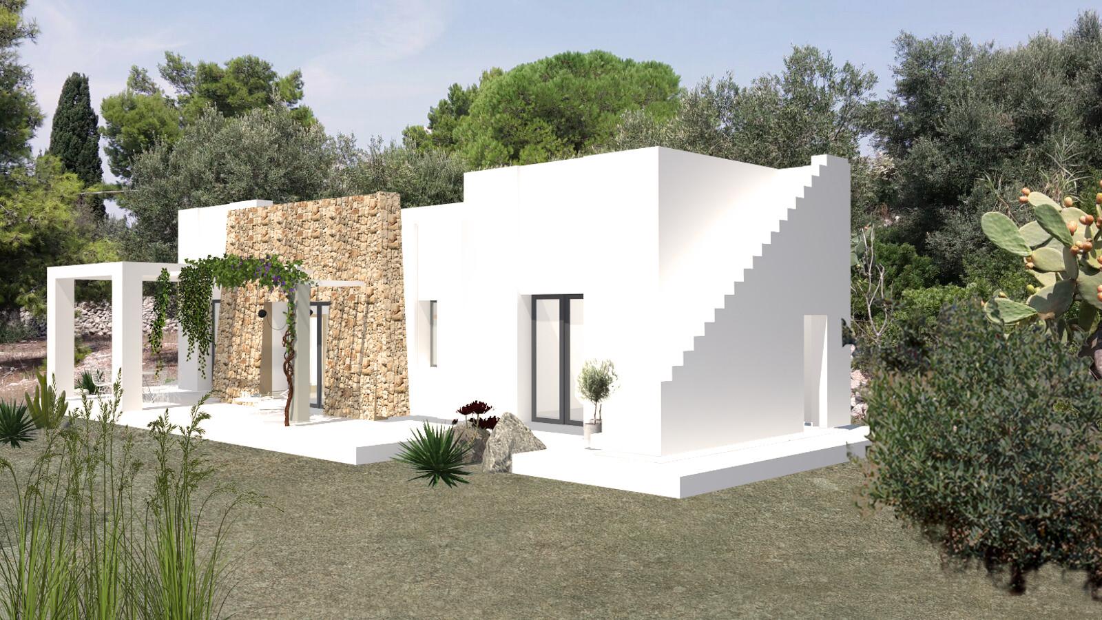 Progetto approvato di Villa, vista mare, più Casa antica - Morciano di Leuca