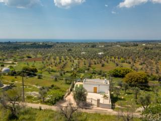 Villa vista mare a 2,5 km dalla spiaggia di Pescoluse