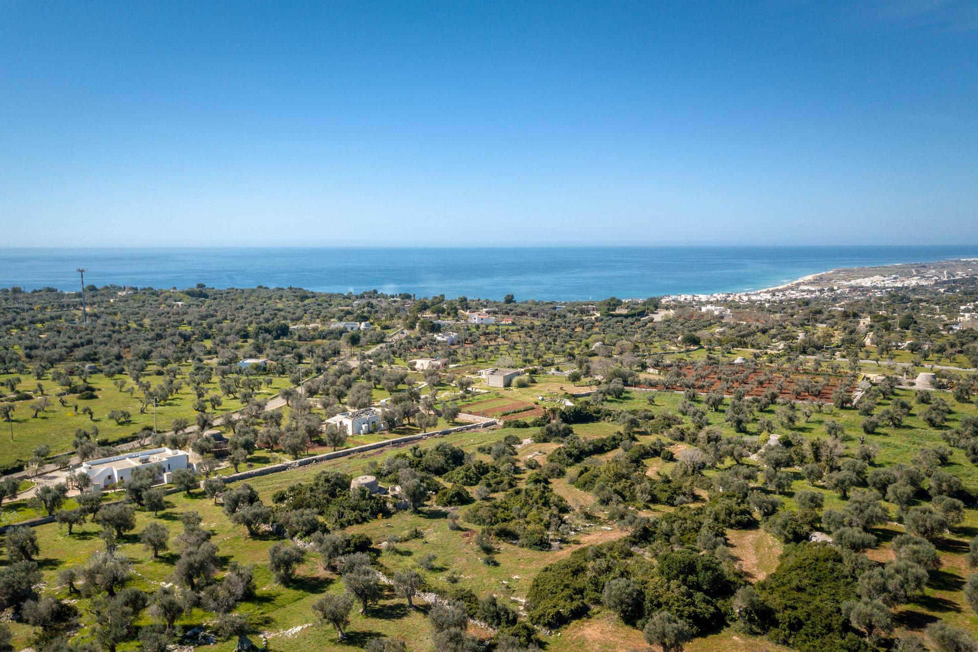 Terreno con Progetto Villa e Piscina, Trulli antichi, a  km 1 dal mare - Morciano di Leuca