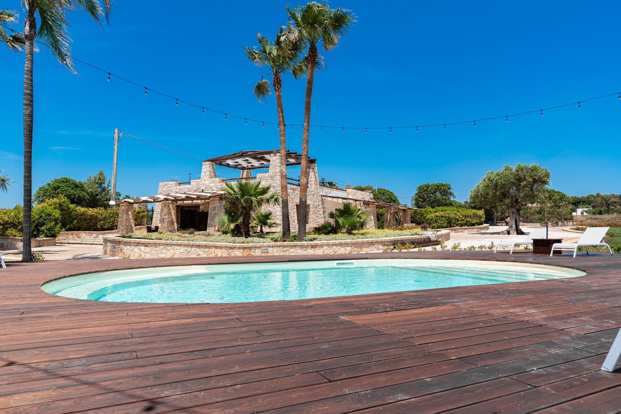 Splendida villa in pietra con Piscina, fronte spiaggia  - Salve