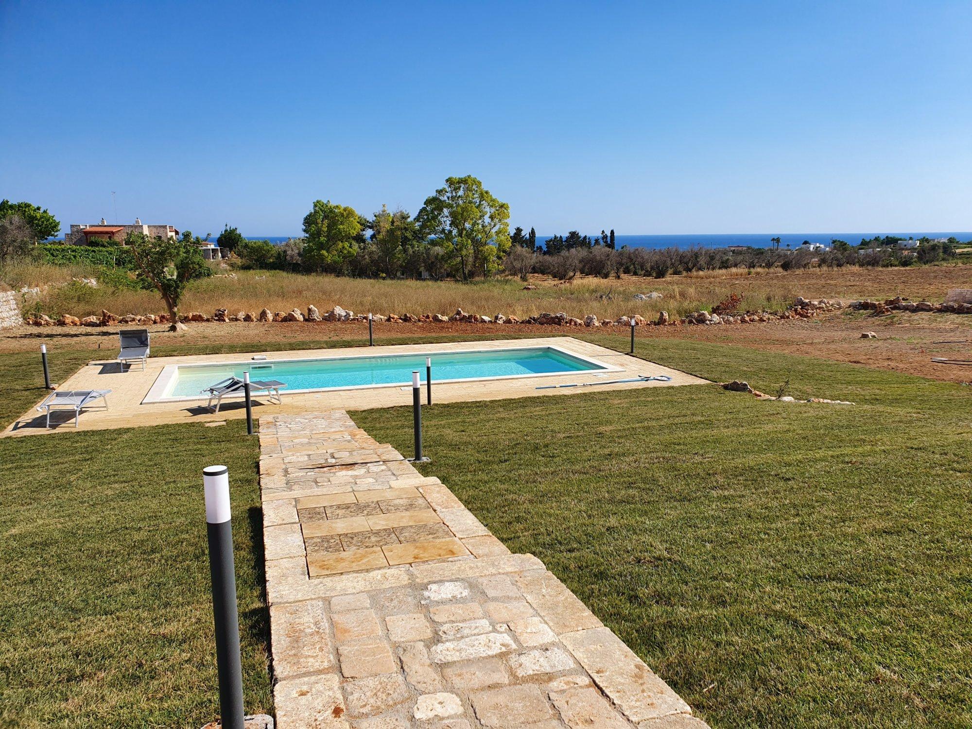 Villa con Piscina, vista mare, a Pescoluse - Salve