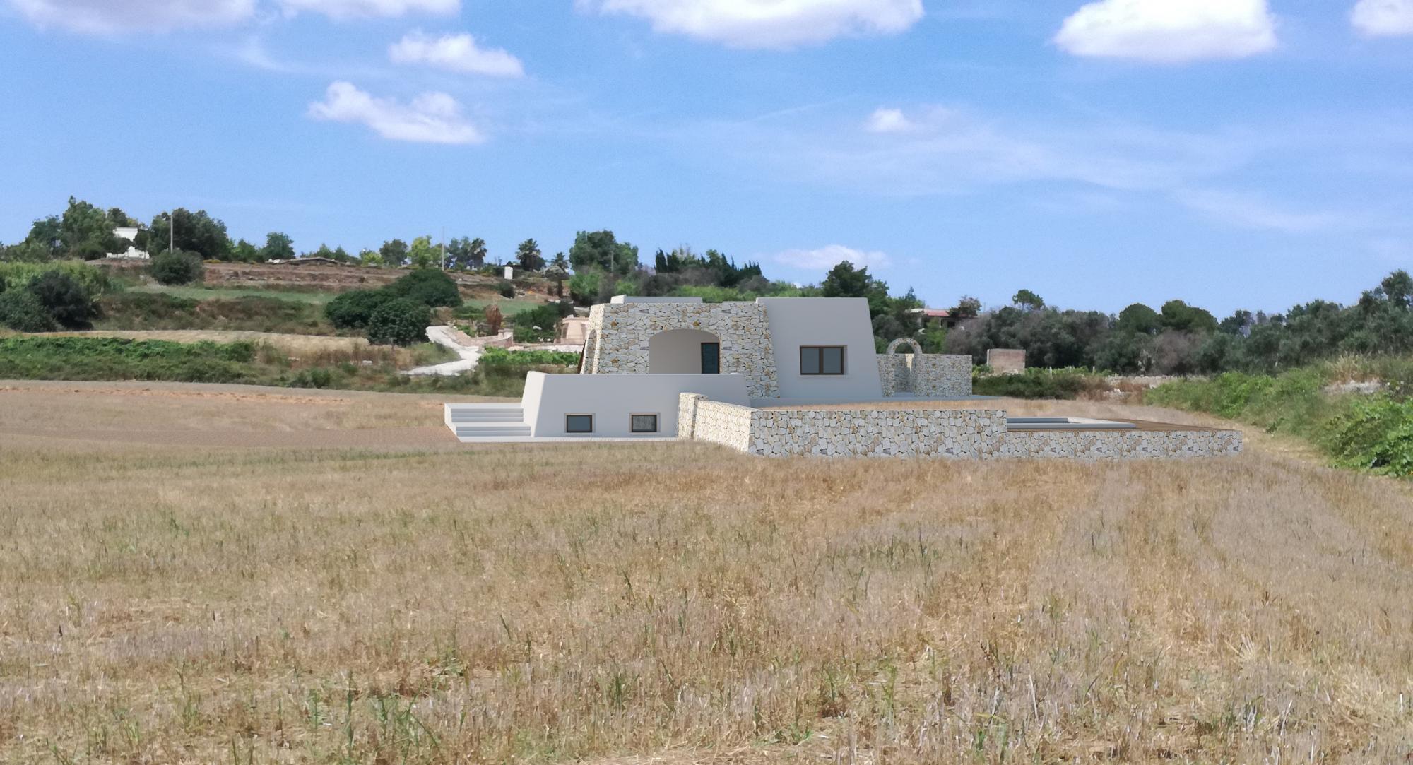 Villa con Piscina, vista mare, in costruzione a Pescoluse - Salve
