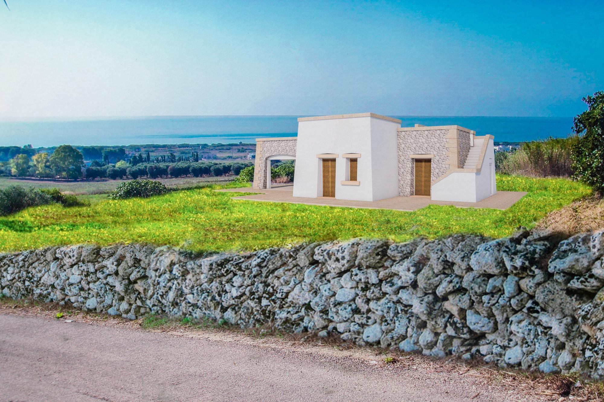 Progetto Villa e Piscina vista mare fantastica a 1 km dalla spiaggia - Salve
