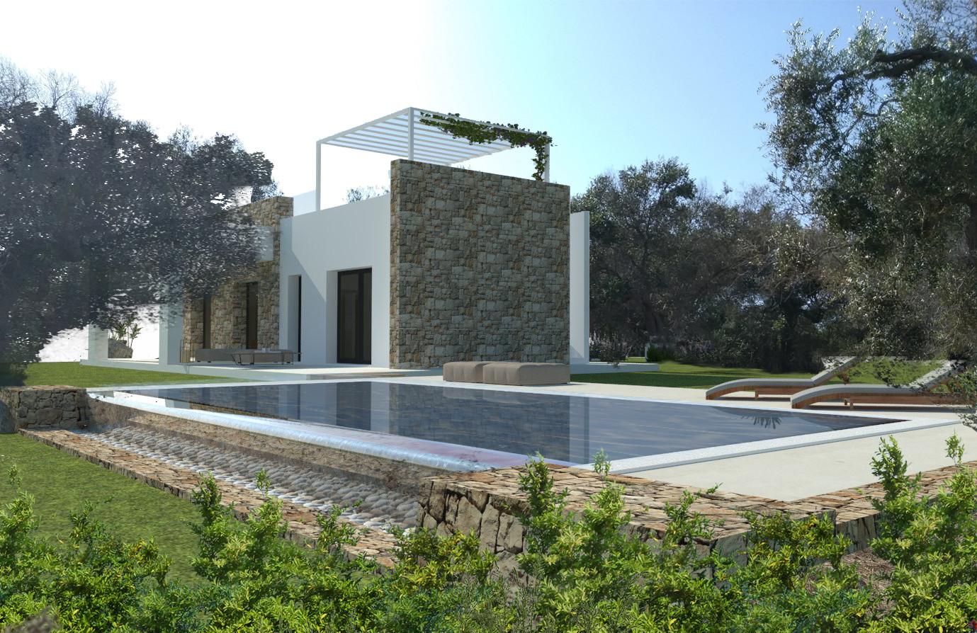 Villa e Piscina da costruire tra ulivi, a 1 km da S.M. di Leuca - Castrignano del Capo