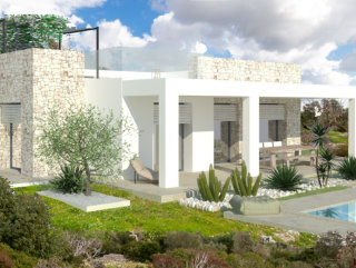 Sea view villa project, 1 km from the beach of Pescoluse