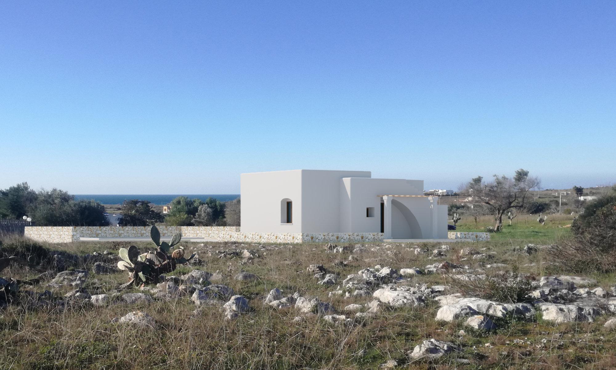 PESCOLUSE, Villa e Piscina vista mare, di nuova costruzione - Salve
