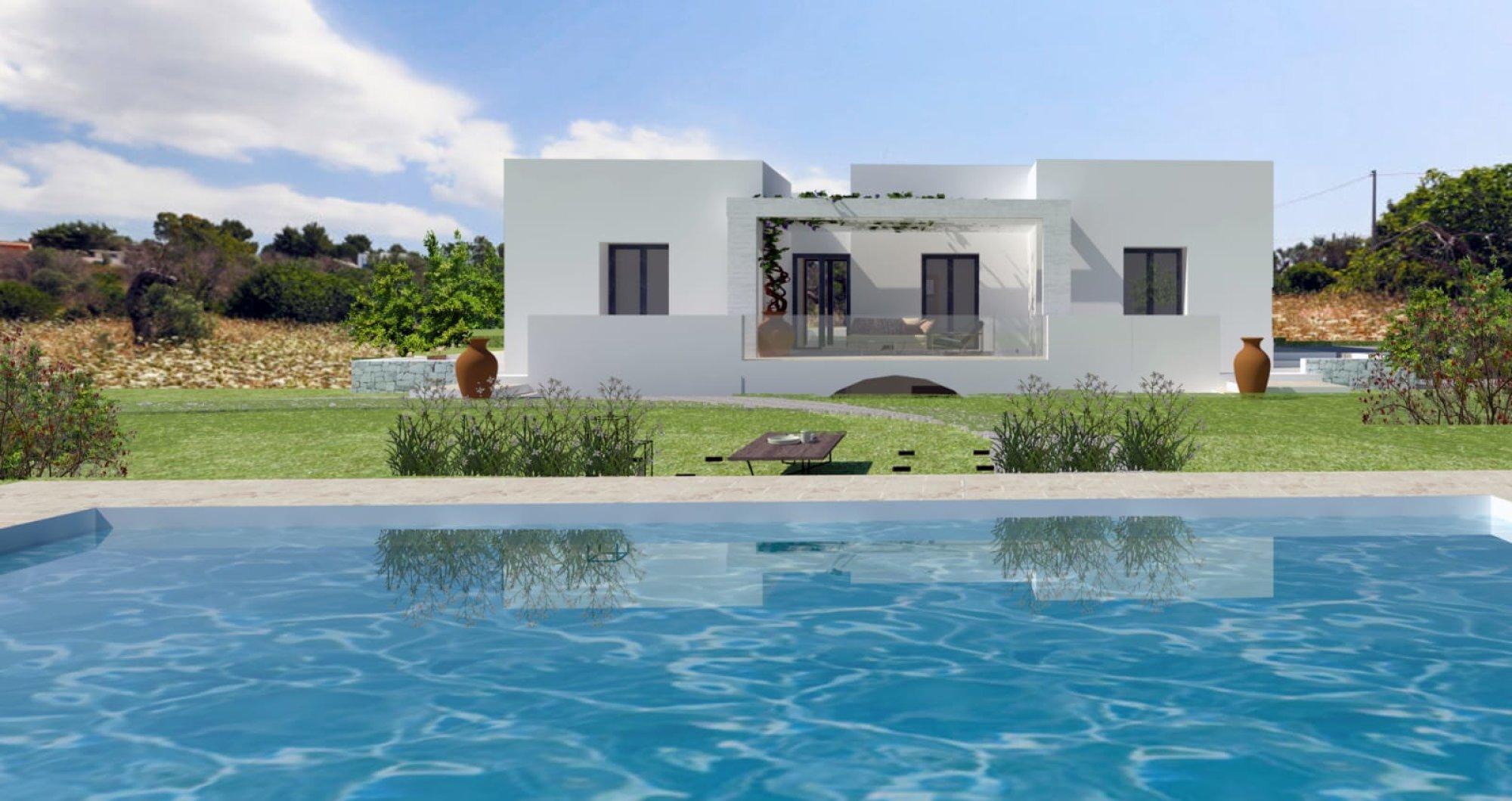 Progetto Villa e Piscina vista mare, da realizzare - Salve
