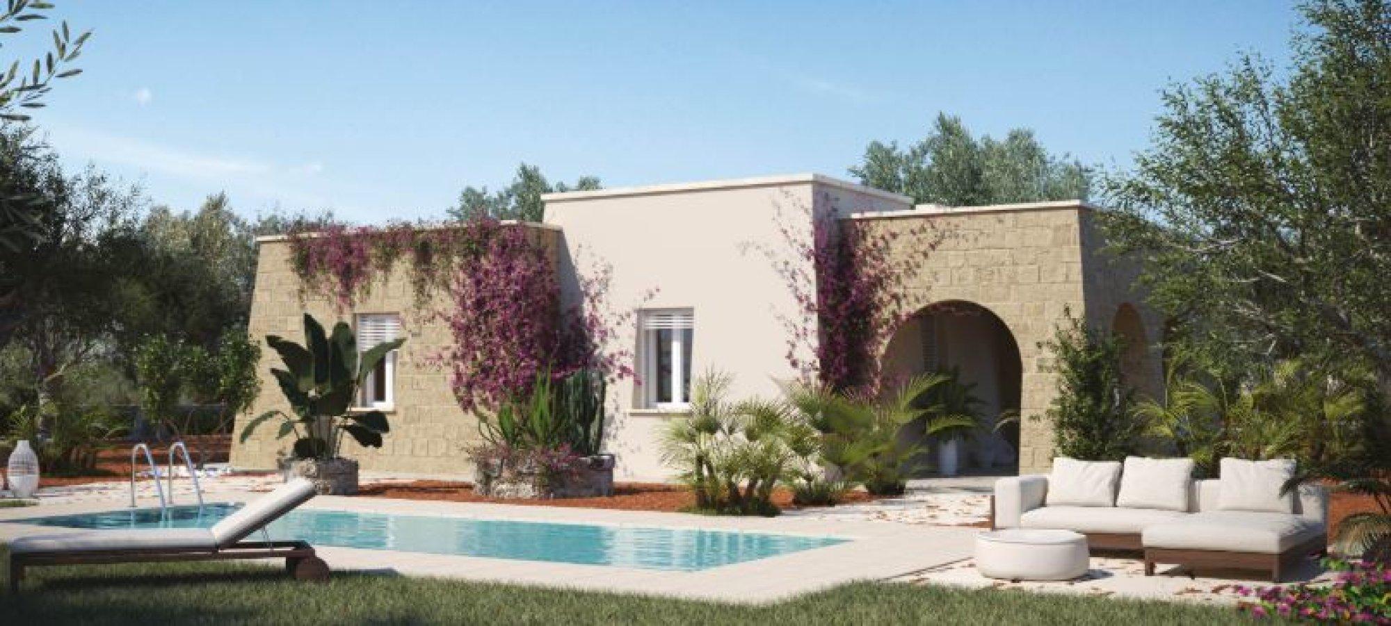 Villa con Piscina da realizzare a 3 km dalla spiaggia di Pescoluse. - Salve