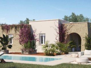 Villa con Piscina da realizzare a 3 km dalla spiaggia di Pescoluse.