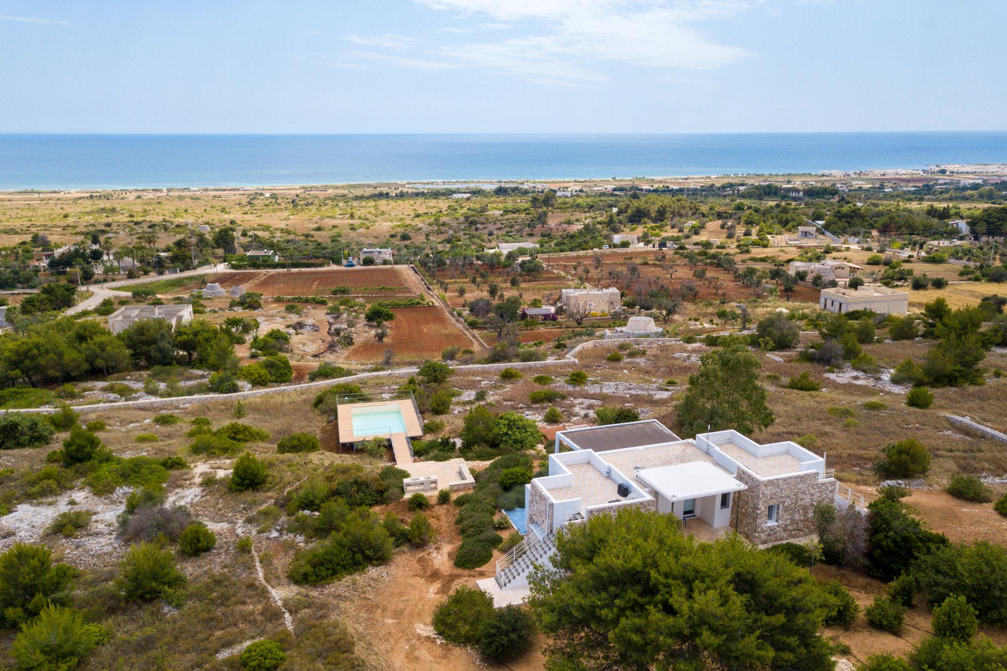 Villa con Piscina fronte mare e panorama incantevole - Salve