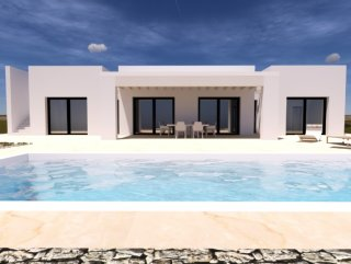 Land with sea view, building villa and swimming pool